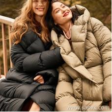 Wind home high velvet strong warm flow! White goose down harvester quilt long down jacket YR0107