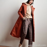 Wind home is mellow! Exquisite color matte plaid high waist pants! KZ0430