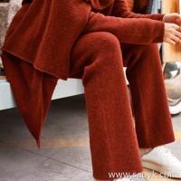 Limited Baby yak! Italian small yak velvet heavy slim long leg pants KZ0414