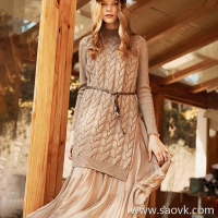 The wind home does not make the protagonist for many years! Two-piece warm twisted yak velvet + silk half skirt suit QZ0789