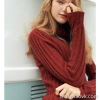Wind home Annual welfare! Rewarding method single 牦 温暖 warm warm heavy pit slim sweater MZ0823