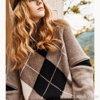 Wind home, you are good! Warm double high leader zipper shape yak wool thick sweater MZ0854