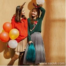 Fengjia Xinghui is like a dream! Goddess micro flashing elegant draping quality silver onion pleated skirt QZ0797