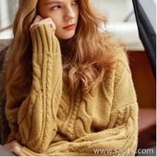 Wind home milk yellow heart! Poisonous white 皙 皙 加厚 thick warm warm high collar yak sweater Sweater MZ0832
