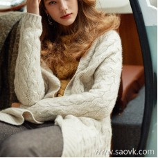 Wind home is not called BABY! Pointed goods heavy magnetic 糯 BA BABY pure cashmere cardigan MZ0830