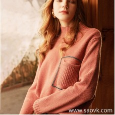 Limited! Italian old luxury cashmere family signature bead chain rose bean pure cashmere micro-high collar shirt MZ0862