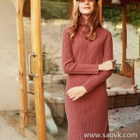 Wind home, happy to sink! Dry rose yak velvet side slit mini high collar dress QZ0793