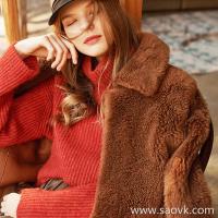 Wind home Luxury small stove! Lady velvet Peru ultra-fine alpaca chimney collar sweater MZ0851