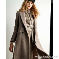 Wind home list of the list! Crazy love primary color climbing cloud cashmere slim coat FY0231