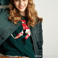 Wind home Aristocratic family! Poison home handmade hair vintage emerald yak sweater MZ0811 V