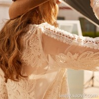 Wind home, clothing, love, straight man, French fairy, silk, heavy work, full body embroidery, two-color shirt BY0382