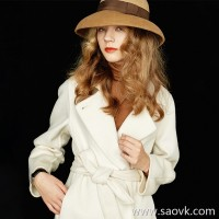 Wind home Scarlett's top hat. Nude pink color matching woolen cap with textured ribbon PS0135