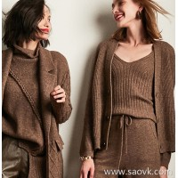 Wind home, trustworthy warmth and beauty! Pure foot yak velvet heavy work magnetic cardigan cardigan MZ0829