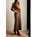 Wind home relaxed and stylish! Checkered ties, hand-stitched wool, handsome, wide-leg pants, KZ0412