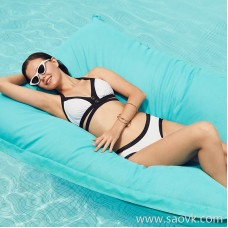 Sisia European and American fashion ins style bikini three-piece big breasts sexy small chest gathered three-point swimsuit women