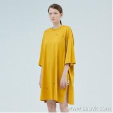JNBY / Jiangnan commoner 2019 summer new cotton round neck short-sleeved T-shirt dress female 5J5610720