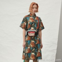 JNBY / Jiangnan commoner 20 spring and summer discount new dress retro print shirt skirt 5J5511650 Z