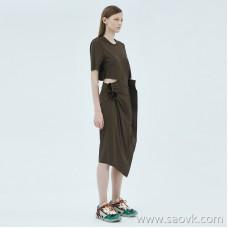 JNBY / Jiangnan Cloth Dress 20 Spring Summer Discount New Irregular Waist Short Sleeve Skirt 5J4500980