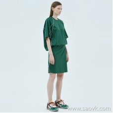 JNBY / Jiangnan commoner 20 spring and summer discount new dress loose short sleeve waist knit skirt 5J4511020