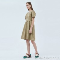 JNBY / Jiangnan Cloth Dress 20 Spring and Summer Discount New Cotton Short-sleeved A-line Skirt