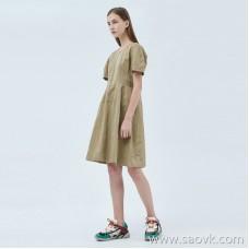 JNBY / Jiangnan Cloth Dress 20 Spring and Summer Discount New Cotton Short-sleeved A-line Skirt