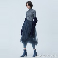 [Same as the shopping mall] JNBY / Jiangnan commoner 2019 autumn new net yarn knitted dress female 5J8842870