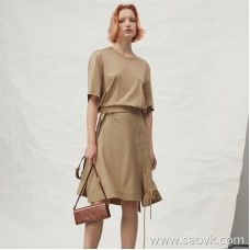 JNBY / Jiangnan commoner 20 spring and summer discount new dress round neck fake two-piece stitching skirt 5J4510970 Z