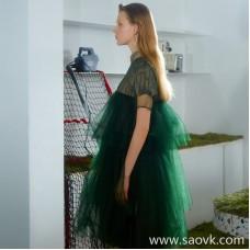 JNBY / Jiangnan commoner 20 spring and summer discount new dress retro mesh gauze skirt female 5J4511770