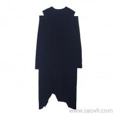 JNBY / Jiangnan commoner dress 20 spring and summer discount new round neck strapless irregular skirt 5J2840290