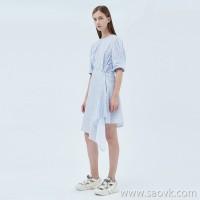 JNBY / Jiangnan commoner 20 spring and summer discount new dress irregular waist waist striped skirt female 5J3501660