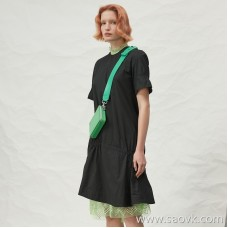 JNBY / Jiangnan commoner 20 spring and summer discount new dress cotton simple round neck A word skirt 5H4500952 Z