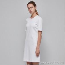 JNBY / Jiangnan commoner 2019 new round neck hedging short T-shirt dress female 5I4512110