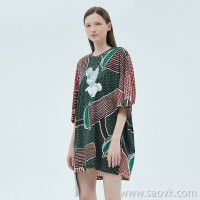 JNBY / Jiangnan commoner 20 spring and summer discount new dress loose print short skirt female 5J4510830
