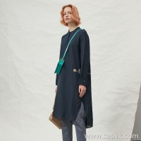 JNBY / Jiangnan commoner 20 spring and summer discount new dress linen round neck long skirt female 5J3101330