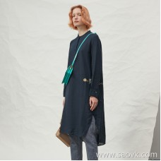JNBY / Jiangnan commoner 20 spring and summer discount new dress linen round neck long skirt female 5J3101330