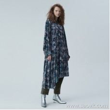 [Same as in the mall] JNBY / Jiangnan commoner 2019 autumn new printing simple dress female 5J7500420