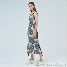 JNBY / Jiangnan Cloth One-piece Dress 20 Spring and Summer Discount New Silk Silk Mid-length Sling Dress 5J5500910