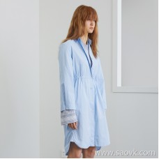 JNBY / Jiangnan commoner 2019 spring new loose waist long shirt dress female 5I3100420